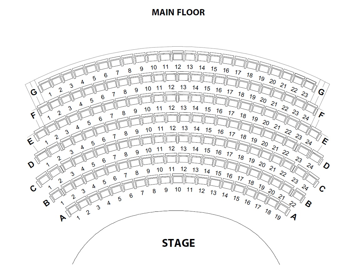 seating plan main floor