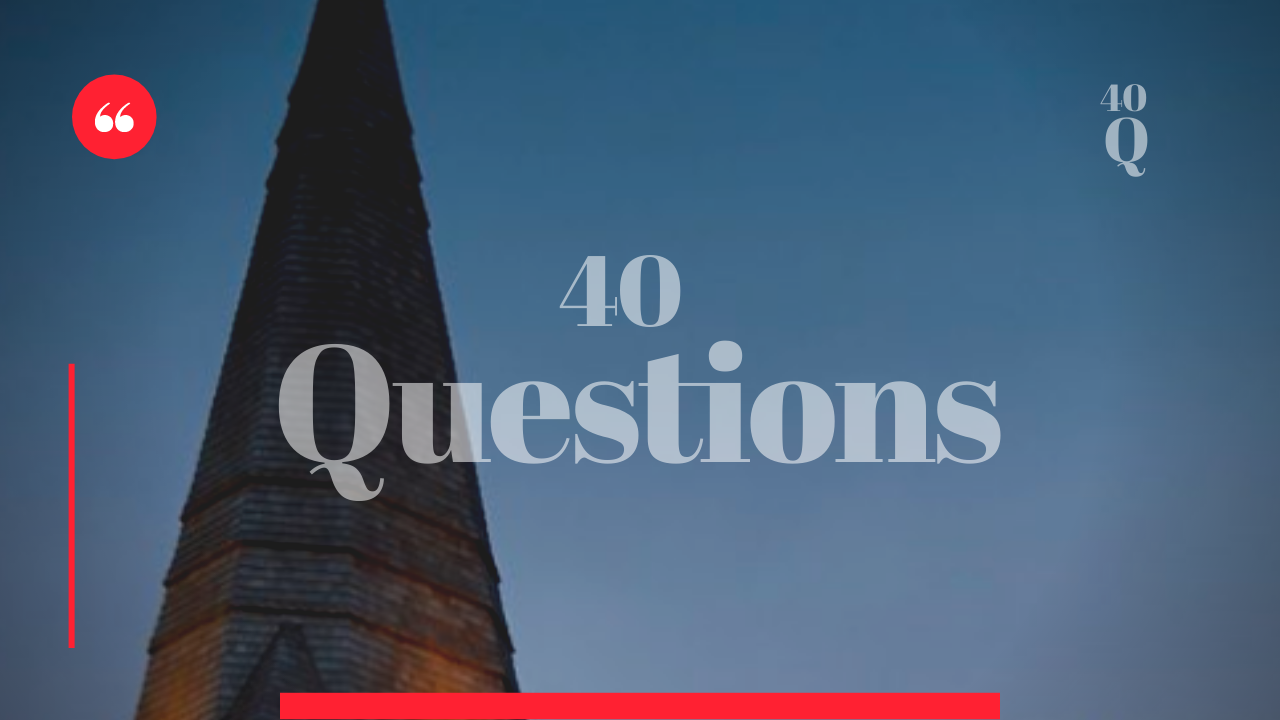 40 Questions – May Playwright